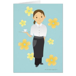 Waitress Greeting Card