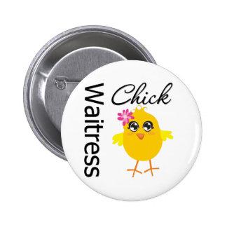 Waitress Chick Button