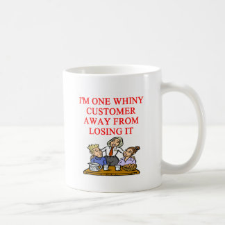 WAITRESS cudtomer joke Mugs