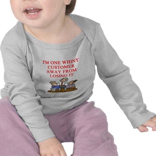 WAITRESS cudtomer joke Tee Shirt