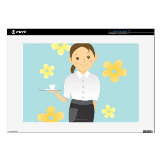 """Waitress Decal For 15"""" Laptop"""