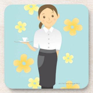 Waitress Drink Coaster