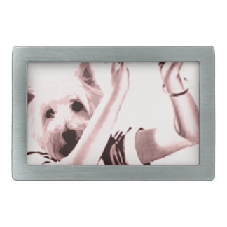 waitress Drinks Rectangular Belt Buckle