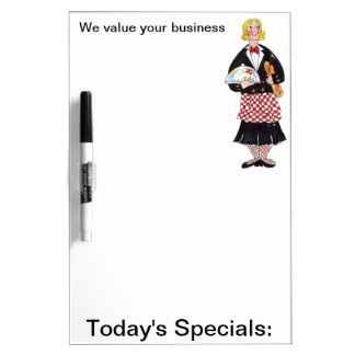 Waitress dry erase board