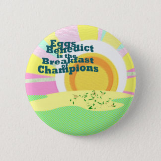 Waitress Flare Eggs Benedict Breakfast Sales - Button