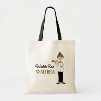 Waitress Gift Budget Tote Bag