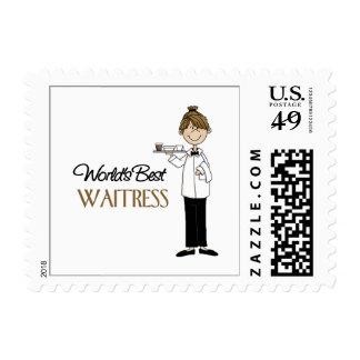 Waitress Gift Postage Stamp
