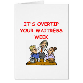 waitress joke card