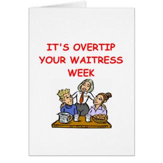 waitress joke greeting card