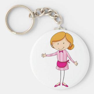 Waitress Keychain
