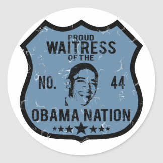 Waitress Obama Nation Classic Round Sticker