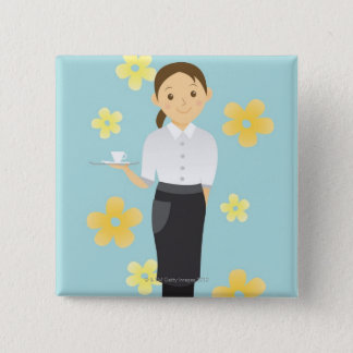 Waitress Pinback Button