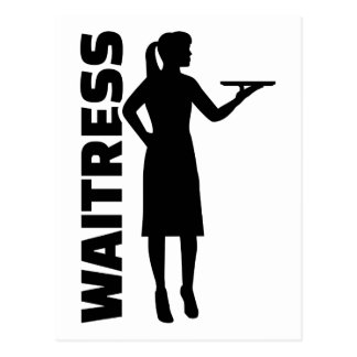 Waitress Postcard