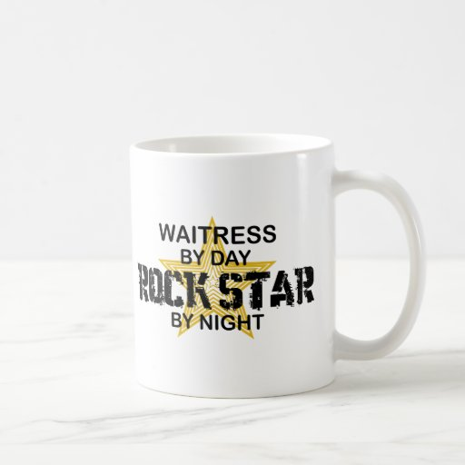 Waitress Rock Star by Night Classic White Coffee Mug