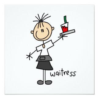 Waitress Stick Figure Card