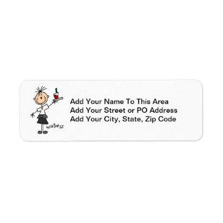 Waitress Stick Figure Label