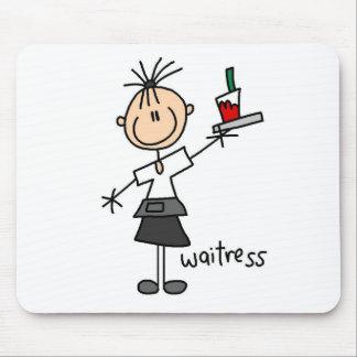 Waitress Stick Figure Mouse Pad