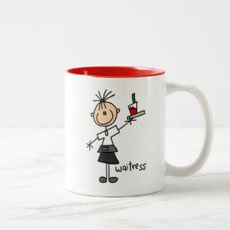 Waitress Stick Figure Mug