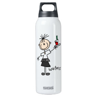 Waitress Stick Figure SIGG Thermo 0.5L Insulated Bottle