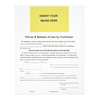 Waiver & Release of Lien by Contractor Form Letterhead