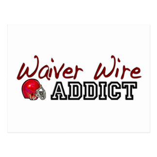 Waiver Wire Addict Postcard