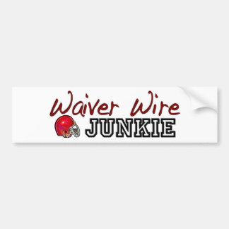 Waiver Wire Junkie Bumper Sticker