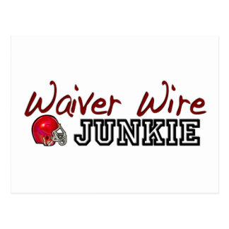 Waiver Wire Junkie Postcard