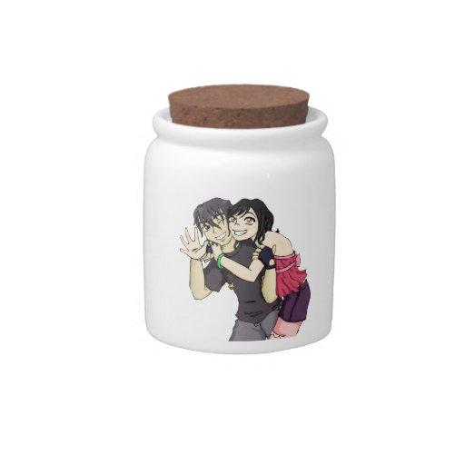 Wakaba and Arai Candy Jar