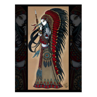 Wakanda Native Tribal Warrior Priestess Postcard