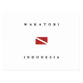 Wakatobi Indonesia Scuba Dive Flag Postcard