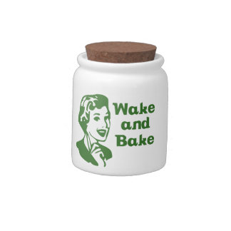 Wake and Bake Jars Candy Dishes