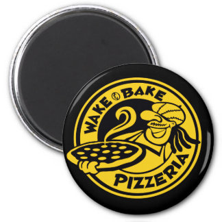 Wake and Bake Pizza Magnet