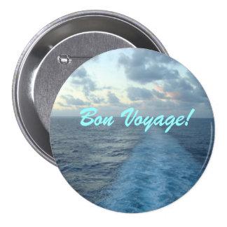 Wake Bon Voyage Pinback Button