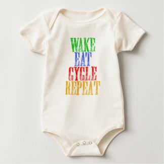 WAKE EAT CYCLE REPEAT BABY BODYSUIT