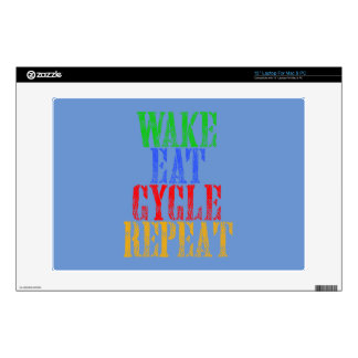 WAKE EAT CYCLE REPEAT DECAL FOR LAPTOP