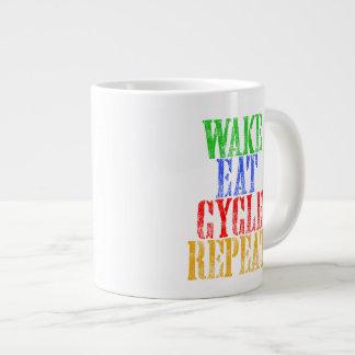 WAKE EAT CYCLE REPEAT LARGE COFFEE MUG