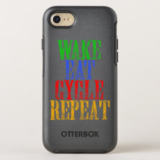 WAKE EAT CYCLE REPEAT OtterBox SYMMETRY iPhone 7 CASE
