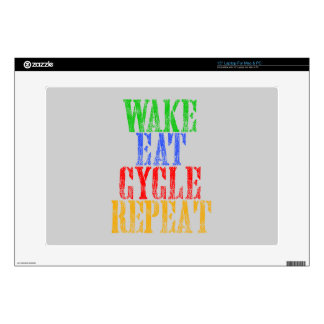 WAKE EAT CYCLE REPEAT SKINS FOR LAPTOPS