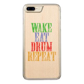 Wake Eat DRUM Repeat Carved iPhone 8 Plus/7 Plus Case
