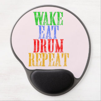 Wake Eat DRUM Repeat Gel Mouse Pad