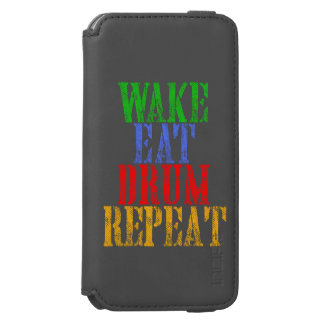 Wake Eat DRUM Repeat iPhone 6/6s Wallet Case