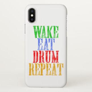 Wake Eat DRUM Repeat iPhone X Case