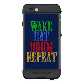 Wake Eat DRUM Repeat LifeProof NÜÜD iPhone 6s Case