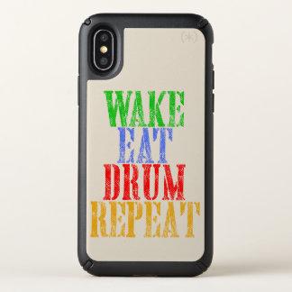 Wake Eat DRUM Repeat Speck iPhone X Case