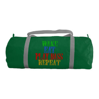 Wake Eat PLAY BASS Repeat Gym Bag