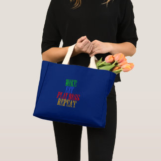 Wake Eat PLAY BASS Repeat Mini Tote Bag