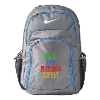 Wake Eat PLAY BASS Repeat Nike Backpack