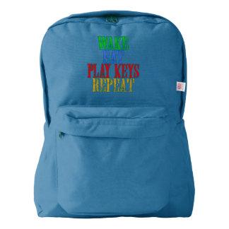 Wake Eat PLAY KEYS Repeat American Apparel™ Backpack