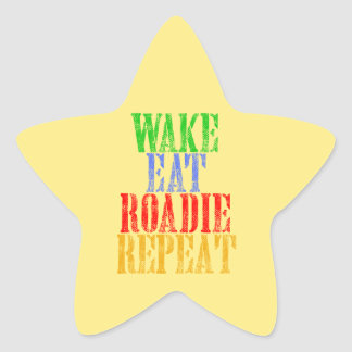Wake Eat ROADIE Repeat Star Sticker