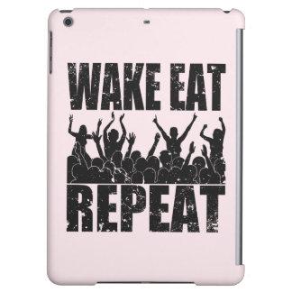 WAKE EAT ROCK REPEAT #2 (blk) Cover For iPad Air